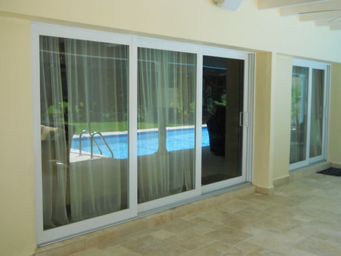 Superior replacement window door inc pgt series 770 xxo sliding glass door complete installation with stucco travertine marble repairs paint touch up done planetlyrics Image collections